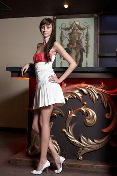 Designer+dress,+A-line+silhouette,+short+length,+custom+made $249  via:alenafedefashions.com walking on sunshine:-)