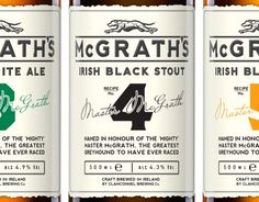 McGrath's Premium Ales - Something about simple branding is just so clean. I love this example of this.
