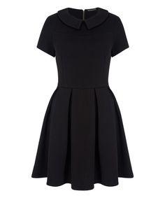 Look what I found on #zulily! Black Chelsea-Collar Skater Dress #zulilyfinds