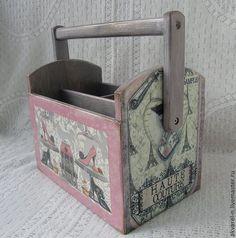 "Купить Короб корзина ""Haute couture"" - розовый, короб для хранения, короб, короб для кухни"
