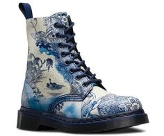 Dr. Martens PASCAL Boots, reinvented in a traditional Chinese willow print.