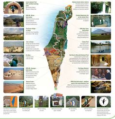 #map of the #IsraelNationalTrail