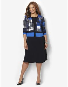 Cute Clothes for Mom: Modern Art Jacket Dress   Catherines