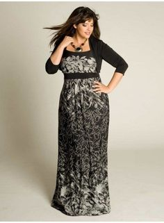 Alina Maxi Dress with shrug - looks comfy and dressy at the same time!