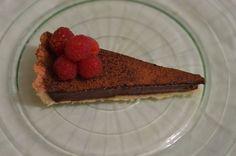 tarta de trufa chocolate y fresa