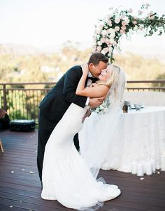 Gorgeous Poolside Wedding At A Private Residence In Orange County: Sposto Photography captured all the beauty of this gorgeous poolside California wedding!