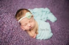 Ruffle Stretch Knit Wrap in Baby Blue | Beautiful Photo Props