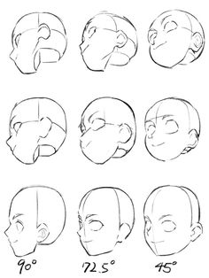 Drawing Heads, Drawing Base, Body Reference Drawing, Drawing Reference Poses, Drawing Expressions, Art Drawings Sketches Simple, Digital Art Tutorial, Anatomy Art, Drawing Techniques