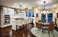 Toll Brothers - The Columbia Kitchen and Breakfast Area