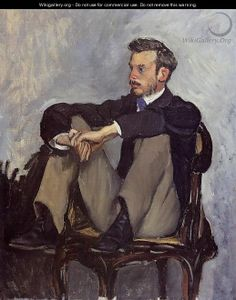 Pierre Auguste Renoir by Frederic Bazille