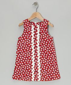 Take a look at this Red Anchor Nora Shift Dress - Toddler by Seesaw Society on #zulily today!