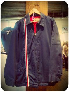 Men's vintage Work Wear jacket with red quilted lining!    FOR SALE!!! — at Portland Flea-for-All.