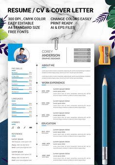 Graphic Designer Resume Template, Graphic Design Resume, Cv Template, Resume Templates, Cv Cover Letter, Perfect Resume, Resume Cv, Photoshop, Lettering