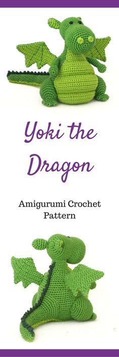 Amigurumi Yoki the Dragon Crochet Pattern Printable #ad #amigurumi #amigurumidoll #amigurumipattern #amigurumitoy #amigurumiaddict #pattern #patternsforcrochet #crochet #crocheting #printable #instantdownload #dragon
