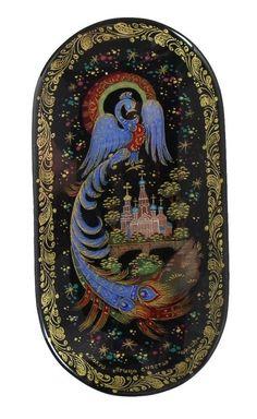 Kholui Russian Lacquer Box 3657 The Firebird | eBay