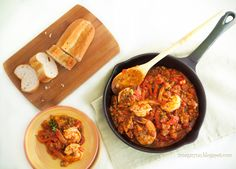 Lentils in Tomato Sauce with Shrimp & Chorizo