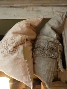 French Linen & Lace Pillows...