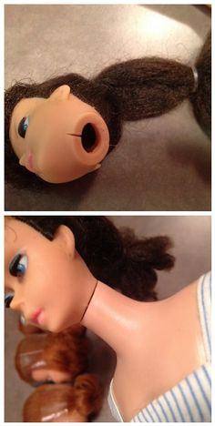 BEFORE & AFTER - Barbie Neck Repair Using Loctite Plastics Glue |