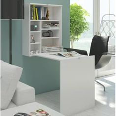 This folding computer desk/table is simple and useful. Its large wall mounted desk, which is made from high quality material surfac. It is multifunctional desk, can be use as dinning table,computer desk,workstation. Folding Computer Desk, Folding Study Table, Decoration Gris, Wall Mounted Desk, Buy Desk, Foldable Table, Design Moderne, Office Furniture, Diy Furniture
