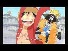 One Piece - Luffy amazed by Franky's new weapons - YouTube