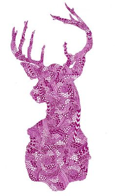 Gorgeous print and featuring the bold stag design in pink is a great idea