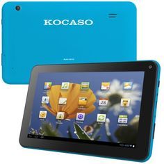 """Kocaso MX736 7"""" Tablet Android 4.2 Dual Core Dual Camera Tablet 7"""" (Blue). Android 4.2 Jelly Bean, 7 inches Display. Rockchip 3026 Cortex-A9 Dual-Core Up to 1.2GHz. 4 GB Flash Memory, 0.5 GB RAM Memory. 0.7 pounds. Rear camera is 1.3 MP."""