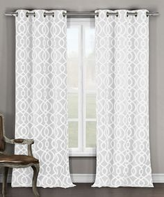 White Harris Blackout Curtain Panel - Set of Two by Duck River Textile #zulily #zulilyfinds