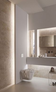 From standard to modern to beach-inspired, bathroom design alternatives are countless. Our gallery showcases bathroom renovation suggestions. Bad Inspiration, Bathroom Inspiration, Bathroom Ideas, Bathroom Mirrors, Bathroom Organization, Light Bathroom, Bathroom Cabinets, Taupe Bathroom, Travertine Bathroom