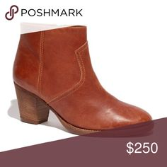 """❤️ SALE Madewell 1937 Leather Winston Boot Size 8 A Madewell classic and the perfect booties! Buttery saddle brown leather, """"rustik brick,"""" and the perfect not too tall heel make these boots incredibly comfortable even if you do a lot of walking. Excellent condition, some wear to the leather. The soles have been replaced and the leather has been professionally cleaned and conditioned with a waterproofing conditioner to help protect them during the rainy season.  Size 8  ❌ Sorry, no trades…"""