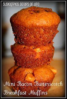 Bacon Butterscotch Breakfast Muffins (Friendship Bread) Recipe