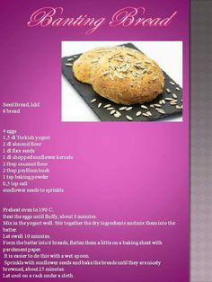 Seed bread by Anina Den Heyer Banting Bread, Banting Diet, Banting Recipes, Flour Recipes, Low Carb Recipes, Lchf, Coconut Flour, Almond Flour, Pap Recipe