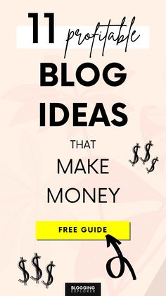So you want to start a blog but you don't know what to blog about? No worries! Here are the absolute top-performing blog ideas you can use for inspiration and launch your blog the easy and quick way – today! Whether you're into lifestyle, art, fashion, food, personal development, self-help, or mom blogging, this free guide for beginners will help you find the best blog topics to make your first blog from scratch and make money blogging faster. #bloggingexplorer #blogging… Make Money Blogging, Make Money Online, How To Make Money, Content Marketing, Online Marketing, Digital Marketing, Business Tips, Online Business, Blog Topics