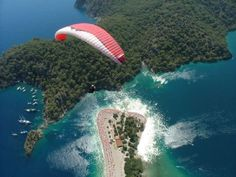 Paragliding in Olu Deniz, Turkey. How incredible would that view be?????