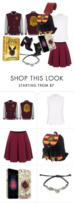 """""""Back to School: Gryffindor House"""" by diazd6879 ❤ liked on Polyvore featuring Elie Tahari, Pierre Hardy, Warner Bros. and Yves Saint Laurent"""