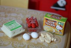 RE MENT Hello Kitty Supermarket collection. This is not the complete collection, just a few pieces.