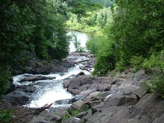 Ragged Falls on the Oxtongue River, Ontario, Canada.