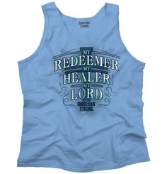 3ac56001adcfb Christian Gifts For Men - My Redeemer Christian Christian Tank Top