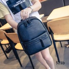 Miyahouse Korea Style Women Backpack Fashion Candy Color Mini Backpacks Ladies Casual PU Leather Backpack Female Small Backpacks
