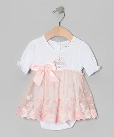 761c0751f9a Look at this Stephan Baby Peach  Princess  Skirted Bodysuit - Infant on  today!