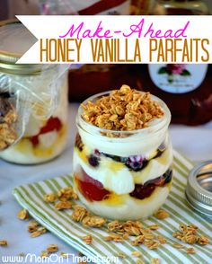 Business Cookware Ought To Be Sturdy And Sensible Make-Ahead Honey Vanillas Parfaits - Make These Parfaits The Night Before And Be Ready To Roll The Next Morning. Tasty And Nutritious, They're Truly The Perfect Way To Start Your Day Profiteroles, Delicious Desserts, Dessert Recipes, Yummy Food, Cup Desserts, Plated Desserts, Dog Recipes, Cooking Recipes, Snacks Recipes