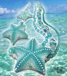 beaded star or starfish pattern #3D- Russian, but diagrams are easy to follow.