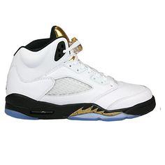 "Air Jordan 5 Retro BG – 4.5Y ""Olympic Gold Medal"" – 440888 133 Olympic Basketball, Basketball Sneakers, Nike Air Jordan 5, Air Jordan 5 Retro, Nike Shoes, Sneakers Nike, Olympic Gold Medals, Gold Coins, Partner"