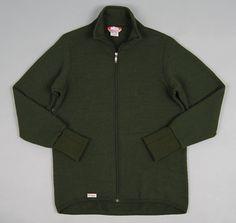 WOOLPOWER: Full Zip Jacket, Green