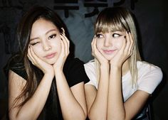 Jennie Kim and Lisa Manoban