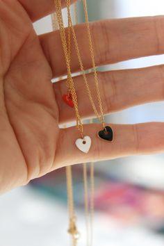 French Enameled Heart Pendant
