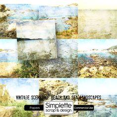 Vintage Scenes papers by Simplette
