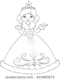 Winter Princess Coloring Page Barbie Coloring Pages Princess Coloring Pages Coloring Pictures