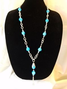 Excited to share the latest addition to my #etsy shop: Ocean Blue Swirl Necklace and Earring Set-(SHA-124) http://etsy.me/2G0Lthe #jewelry #blue #silver #necklace #no #glass #oceanbluebeads #swirlbeads #glassbeads