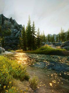 skyrim: scenery