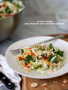 Kale And Cabbage Coleslaw With Marcona Almonds